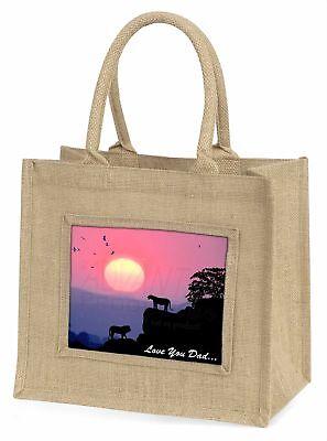 Löwen Sonnenuntergang' liebe Dich Papa 'Große natürliche jute-einkaufstasche