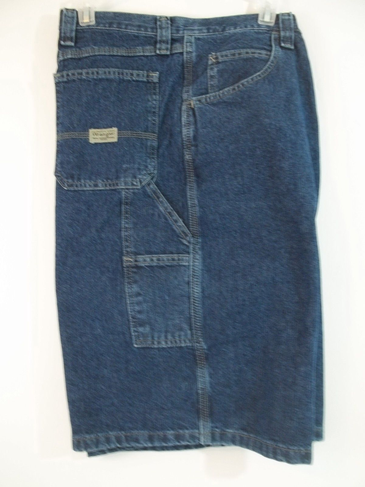 446ab74f Wrangler Denim Jeans Cargo Carpenter Shorts Loose Fit Men's Size 46 ...