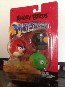 Original Angry Birds Mashems 1st Series UNOPENED 3 PACK NEW IN PACKAGE (RARE)