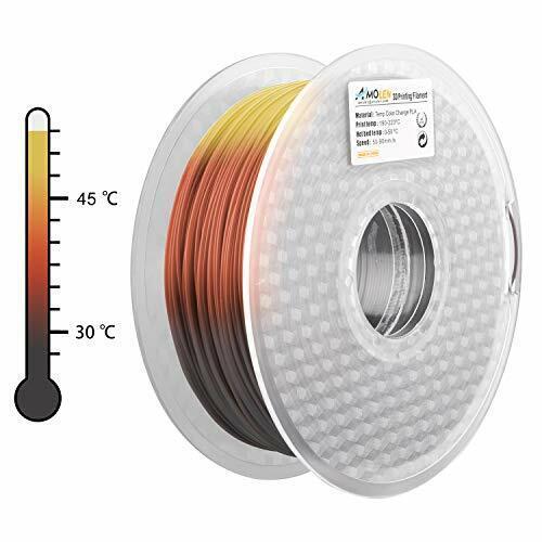 AMOLEN PLA 3D Printer Filament 1.75mm Tri Color Changing with Temperature Pin...
