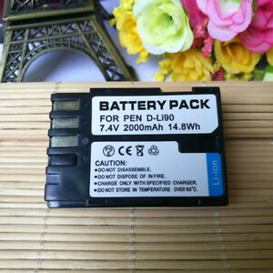 D-LI90-Upgrade-2000mAH-Battery-for-Pentax-K-01-K-3-K-5-II-K-5-IIS-K-7-645D-645Z