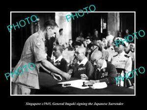 OLD-LARGE-HISTORIC-PHOTO-OF-SINGAPORE-JAPANESE-SURRENDER-SIGNING-1945-ITAGAKI-1