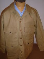 Filson Tin Cloth Tin Cloth Seattle Cruiser Jacket NWT LG $395 Khaki made in USA