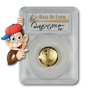 2014-W-5-Gold-Baseball-Coin-PCGS-PR70-Hand-Signed-By-Roberto-Alomar