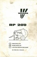 welger round baler rp200 operators manual ebay rh ebay co uk Cool Rp12 Logos Digitech Rp12 Power Supply