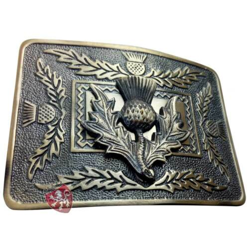Men/'s Scottish Thistle Crest Kilt Belt Buckle Antique Finish Highland Buckles