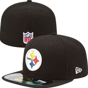 NEW ERA 5950 NFL PITTSBURGH STEELERS HAT CAP ON FIELD FITTED ... 7b08ed182