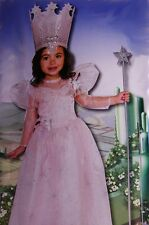 Girls The Wizard of Oz Glinda Good Witch Halloween Costume Dress Purim XS NEW
