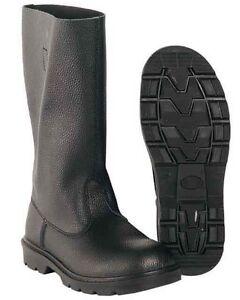 Knobelbecher Leder schwarz, Stiefel                     -NEU-