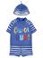 Bébé Garçons UV Sunsafe Set Top Pantalon Et Chapeau Protection UV Swimwear nouveau BNWT