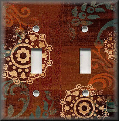 Metal Light Switch Plate Cover - Boho Gypsy Home Decor Copper Rust Home Decor