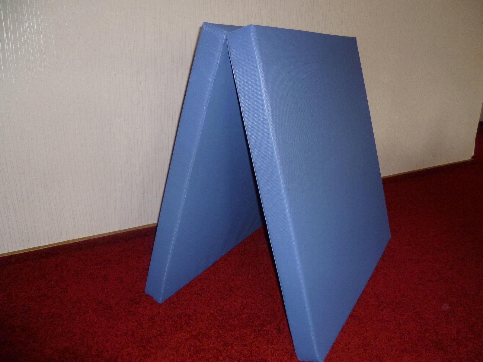 Weichbodenmatte, Weichboden, Turnmatte 200 x 100 x 10 cm -  klappbar blau