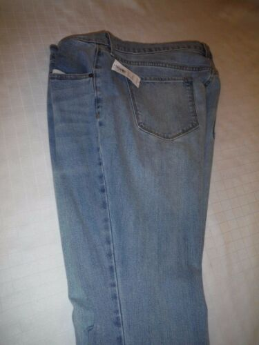 Old Navy Jean Pants size 16 Light Indigo Blue Flare Ankle 99/% cotton 1/% spandex