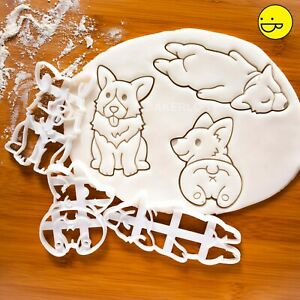 Set-of-3-Corgi-cookie-cutters-cute-Pembroke-Welsh-dog-butt-woof-corgis-biscuit