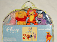 "NEW  IN PACKAGE"" DISNEY WINNIE THE POOH""  BABY CRIB MUSICAL MOBILE PLUSH FIGURES"
