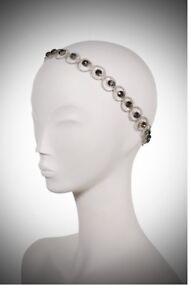 NEW Jenny Packham Headband Olympia I Silver Black Diamond Bridal ... 87d4c16ed32