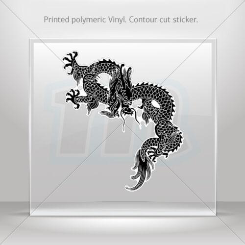 Sticker Decal Dragon Martial Arts Car Motorbike Bike Garage st5 RS64W
