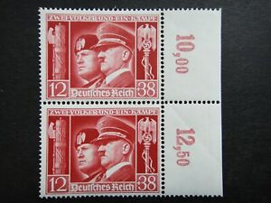 Germany Nazi 1941 Stamps MNH Pair Benito Mussolini Adolf Hitler Swastika Eagle W