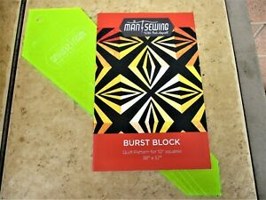 Details About Man Sewing Burst Block Pattern For 10 Squares Template Missouri Star Quilt Co