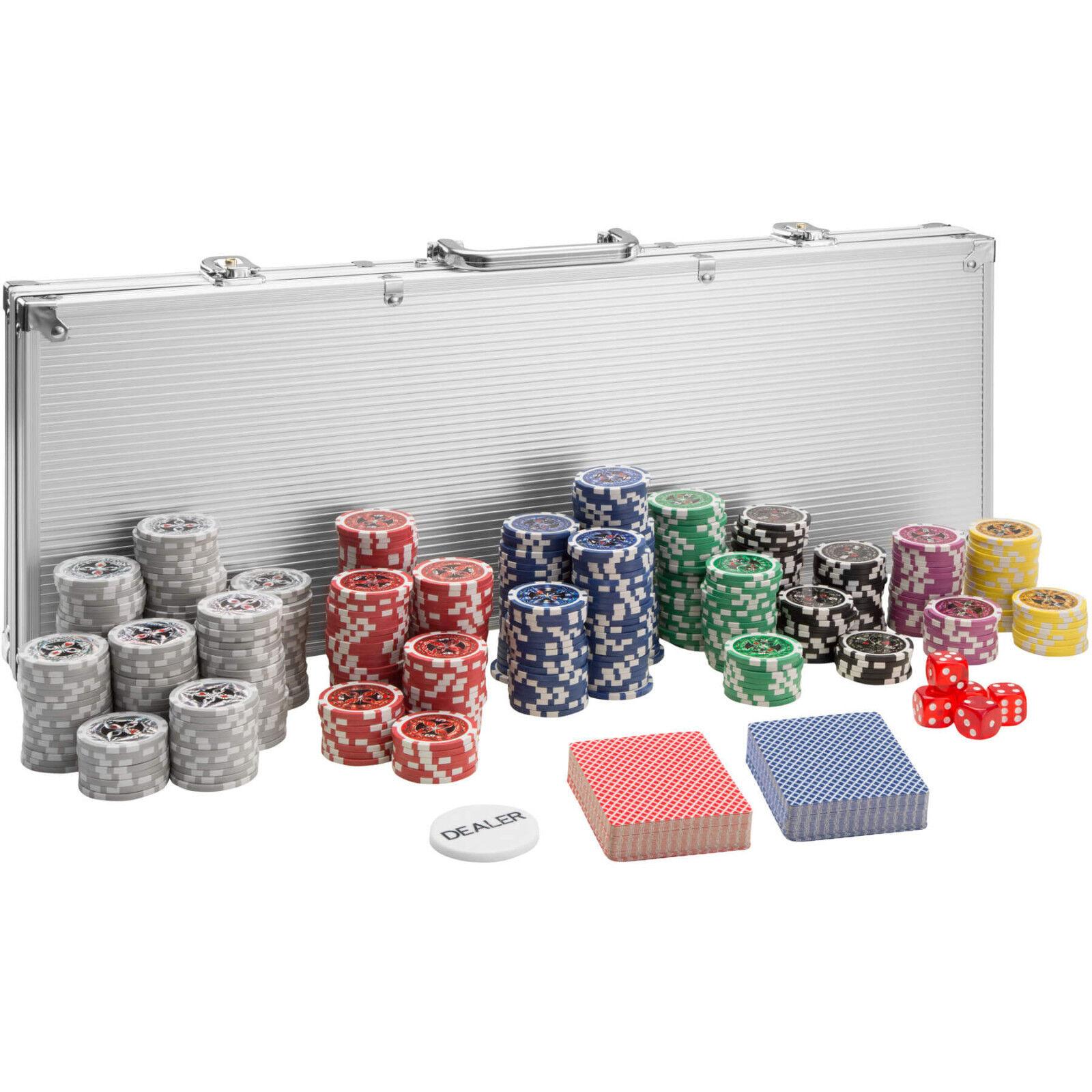 Mallette Poker 500 laser jetons jetons jetons de poker set de poker cards alu valise argent 968bf5