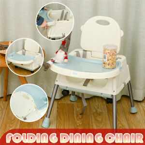 Folding 3 in 1 Baby Infant Dining High Chair Toddler Feeding Table Booster