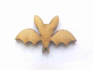 10x WOODEN BAT SHAPES gift tag craft card embellishment wood favour scrapbook