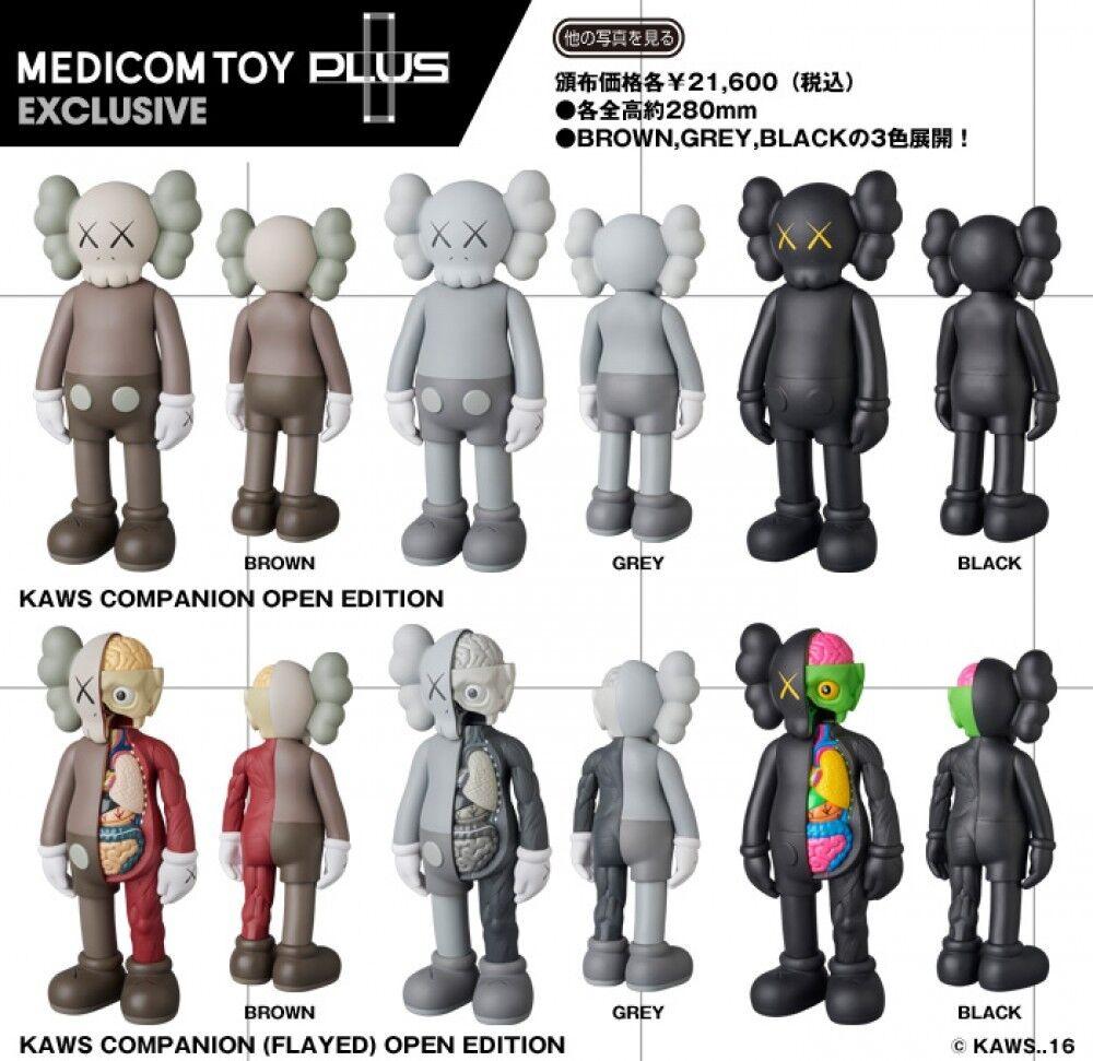 KAWS compañero Open Edition & desollada Edition 6 figura conjunto Medicom Toy