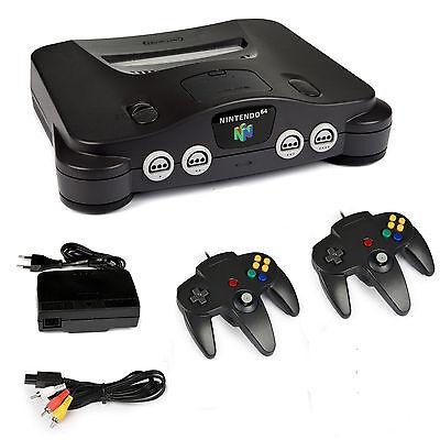 Nintendo 64 Konsole 2 Controller Neu alle Kabel  Super Mario Zelda N64 Spiele