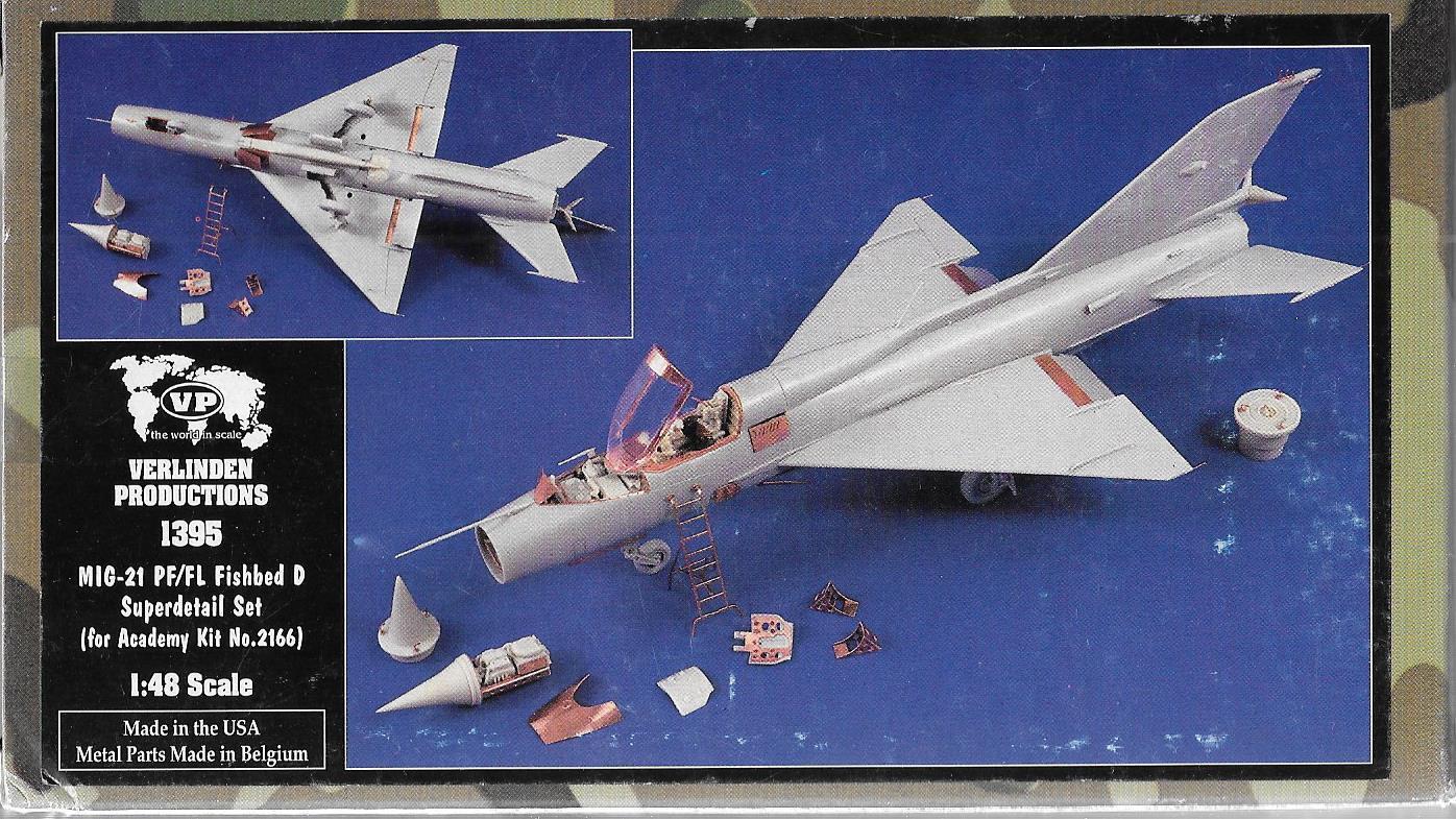 Verlinden Mig-21 PF FL Fishbed D, Superdetail Set in 1 48 1395, For Academy ST