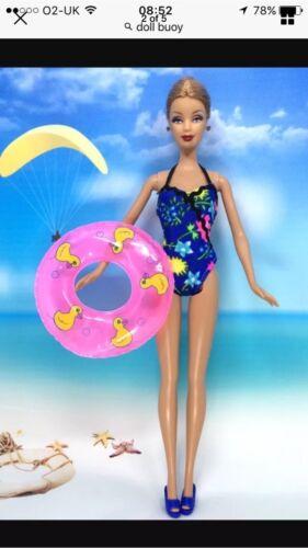 Vendita Rosa 3 x anello in gomma bambola Barbie Prop la mensola da bagno nuoto ragazza Duck