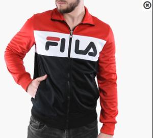 FELPA-FILA-CON-ZIP-UOMO-682386-MEN-BALIN-TRACK-JACKET-GIACCA-NERO-ROSSO-ORIGINAL