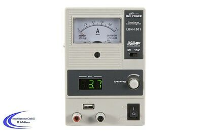 Laboratory Power Supply LBN-1501 0-15v 0-1a 15 Watt - 5v USB Adjustable DC