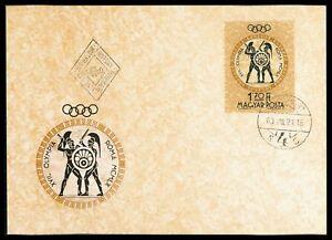 UNGARN-MK-1960-OLYMPIA-ROM-OLYMPICS-SCHWERTKAMPF-FECHTEN-MAXIMUM-CARD-MC-cn73