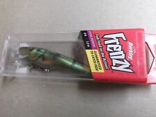 Hard To Find Berkley Frenzy Diving Minnow,4 Footer.Chrome Perch,Hard Box