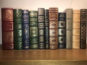 THE-FRANKLIN-LIBRARY-12-Random-Volumes-Full-LEATHER-easton-Press