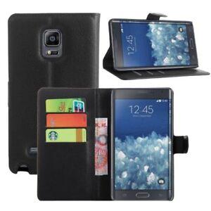 Flip-Case-Handy-Huelle-BOOK-M49-Schwarz-zu-Samsung-Galaxy-Note-Edge-Tasche-Cover