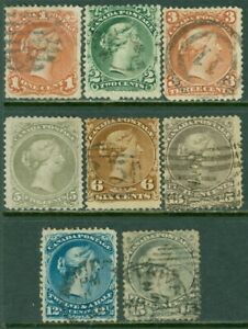 EDW1949SELL : CANADA 1868-76 Scott #22, 24-30 Very Good-Fine, Used. Catalog $520