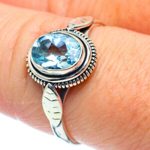 Blue-Topaz-925-Sterling-Silver-Ring-Size-8-5-Ana-Co-Jewelry-R38203F
