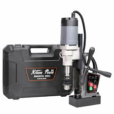 Portable Magnetic Drill Press Magnet Force 9000n 1200w With Coolant Amp Carry Case