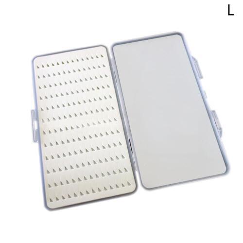 Slim Clear Easy Grip Foam astic Fly Fishing Box Holds Case 168 Flies Holder SH