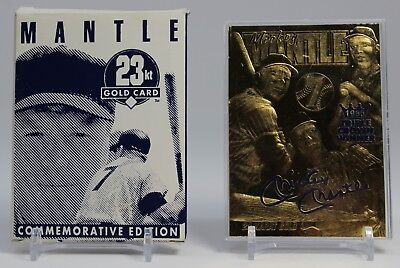 Mickey Mantle 1996 SIGNATURED Limited Edition 23KT Gold Card Commerce COMMET!