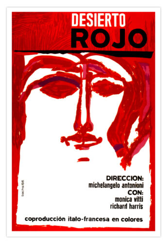"Spanish movie Poster 4 film/""RED Dessert/""Italy France Art.Michelangelo Antonioni"