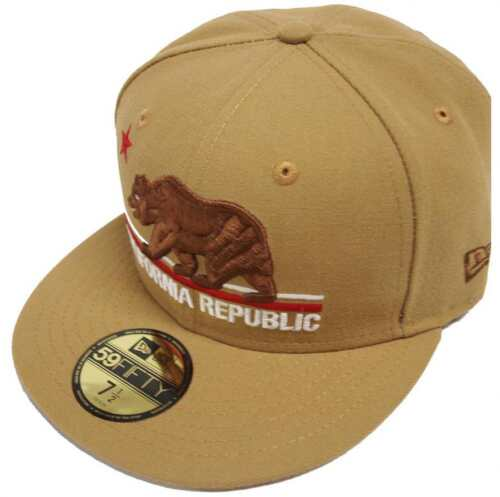 New Era California Edition Cali Republic Wheat Cap 59 Fifty Fitted 5950 Limited