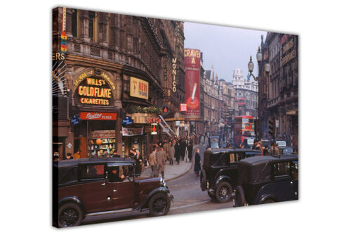 NOSTALGIC 1950S LONDON IMAGE PRINTED ON CANVAS WALL ART HOME DECORATION PICTURES