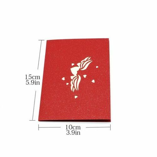 Folding Greeting Cards Laser Cuts Pop Up Postcards Creative Invitation Kirigami