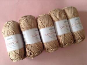 5-x-100g-Balls-of-Sirdar-100-Cotton-D-k-Wool-Yarn-for-Knitting-Crochet-Sh537