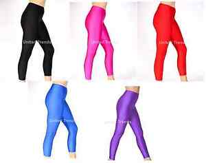 3b231ee12 Girls Children Kids Footless Leggings Ballet Dance Gymnastics Shiny ...
