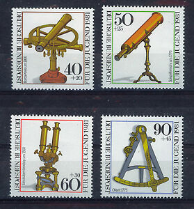 ALEMANIA-RFA-WEST-GERMANY-1981-MNH-SC-B583-B586-Historic-optical-instruments