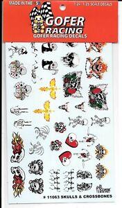 GOFER-Racing-Skulls-amp-Crossbones-Decals-1-24-25-11063-ST
