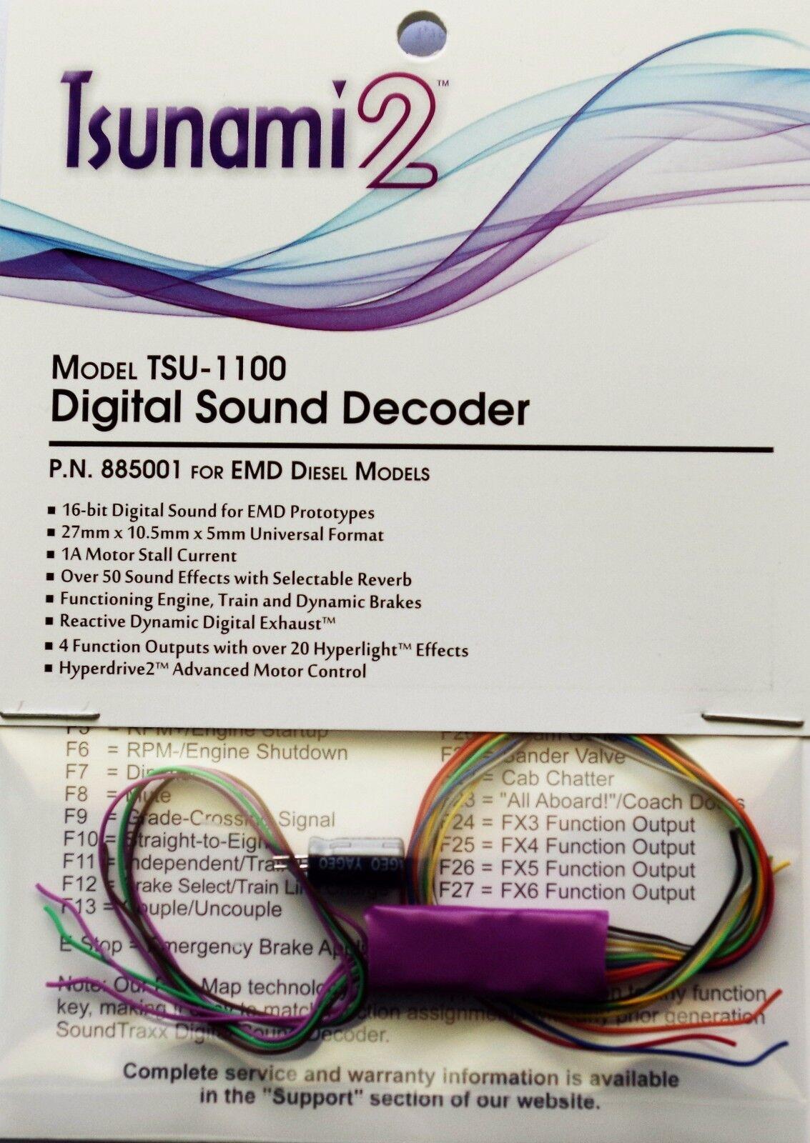 DCC decoder suonotraxx TSU1100 Tsunami2 Digital suono Decoder for EMD Diesels